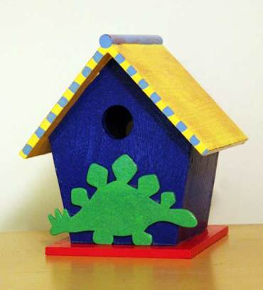 painted birdhouse project