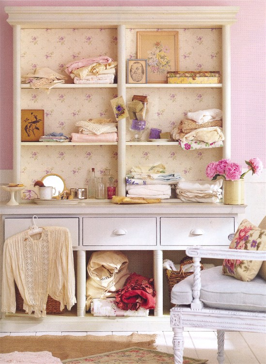 Shabby chic is popular in home