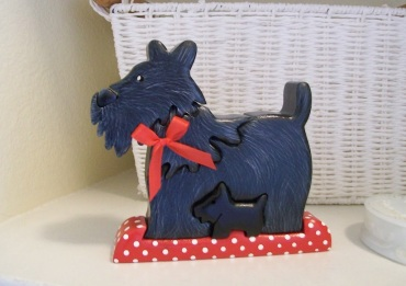 painted scottie dog