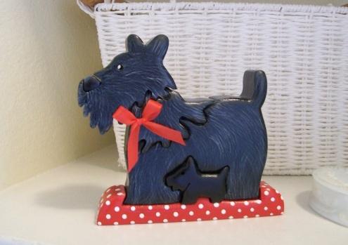 painted scottie dog