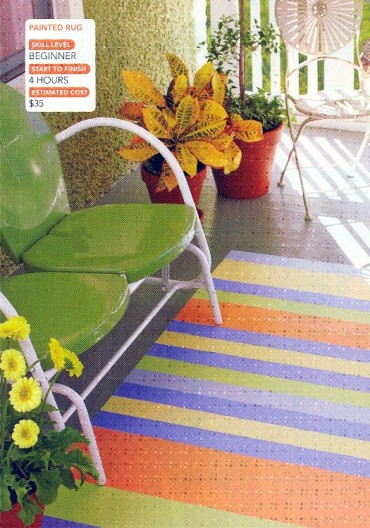 painted striped rug