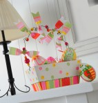 Wood Easter Basket with Eggs