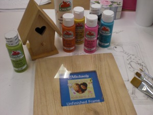 Supplies for the Funky Love Birds Frame