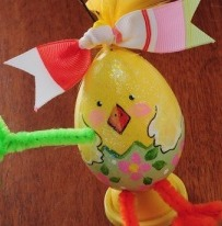 Easter Chick Painted Egg