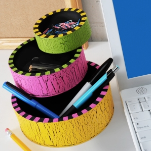 Pretty Neon Desk Organizer