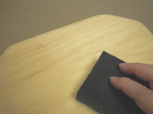 Use the sanding sponge to smooth out your surface.