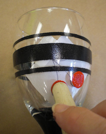 Use a dauber to add polka dots.