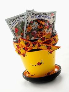 Ladybug Flower pot by Chris Williams