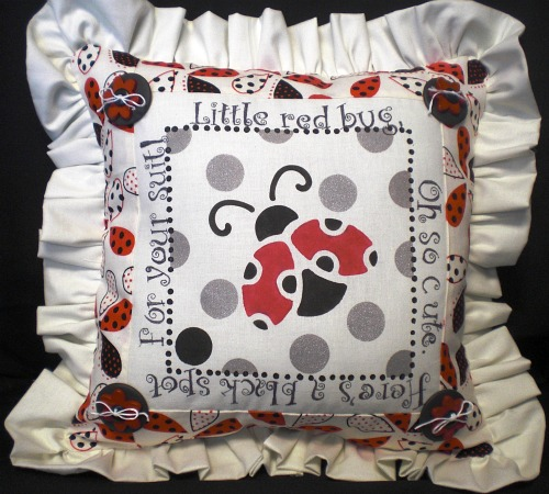 Lady Bug Pillow by Chris Williams