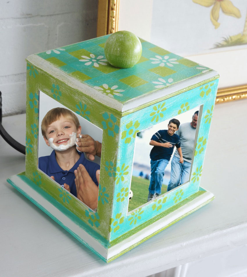 Father's Day Photo Cube by Holli Long