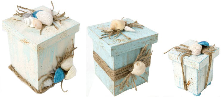 Beach Inspired Nesting Boxes by Holli Long