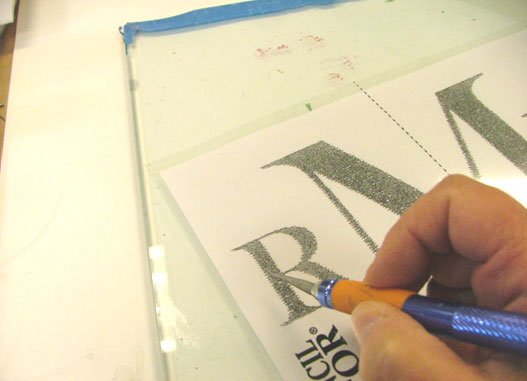 Create your monogram stencil.