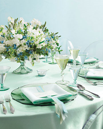 Sea Glass Perfect Palette from MarthaStewartWeddings.com