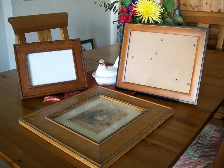 Wooden thrift store frames.