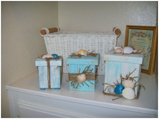 Beach Inspired Nesting Boxes