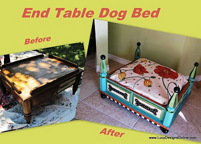 End Table Dog Bed from LucyDesignsOnline.com