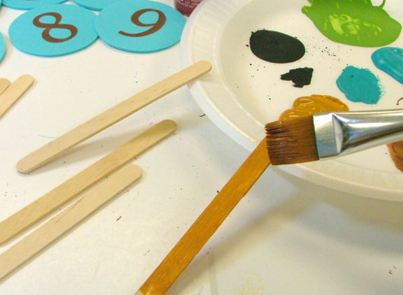 Paint your popsicle sticks.