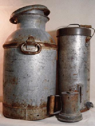 Preparing old tin.