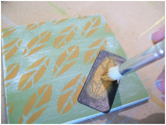 Use the Peel and Stick stencils to repeat patterns.
