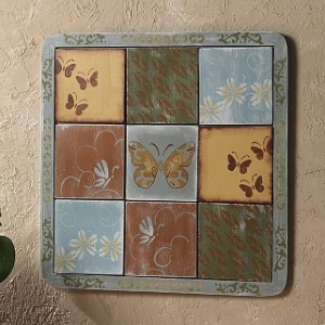Holli's version of the Ballard Designs tile board.